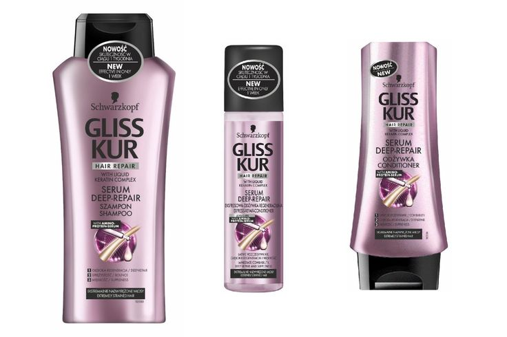 Gliss Kur Serum Deep Repair Shampoo Spray Conditioner -- You can find more details by visiting the image link. #hairdo