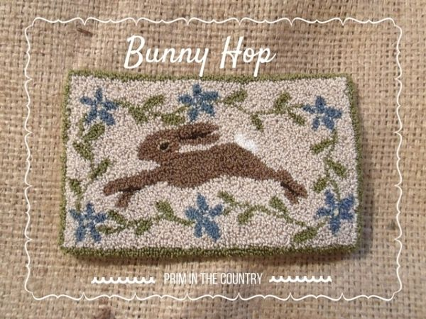*FREE PATTERN* Bunny Hop Punch Needle Pattern