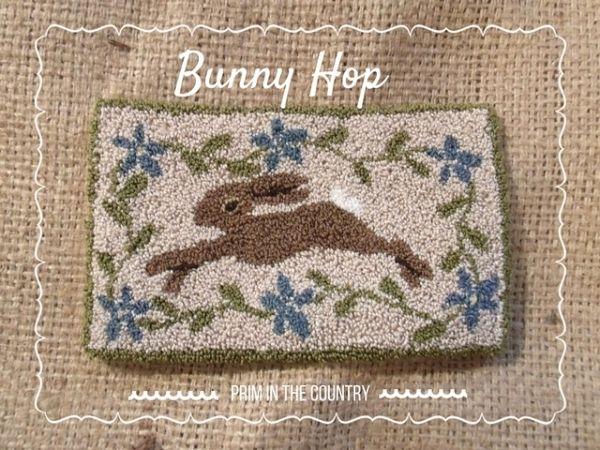 *FREE PATTERN* Bunny Hop Punch Needle Pattern