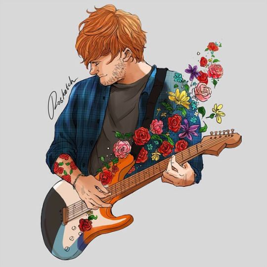 ed sheeran fan art is so beautiful so in lovee!