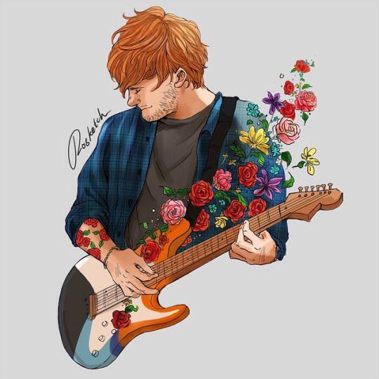ed sheeran fan art is so beautiful so in lovee!