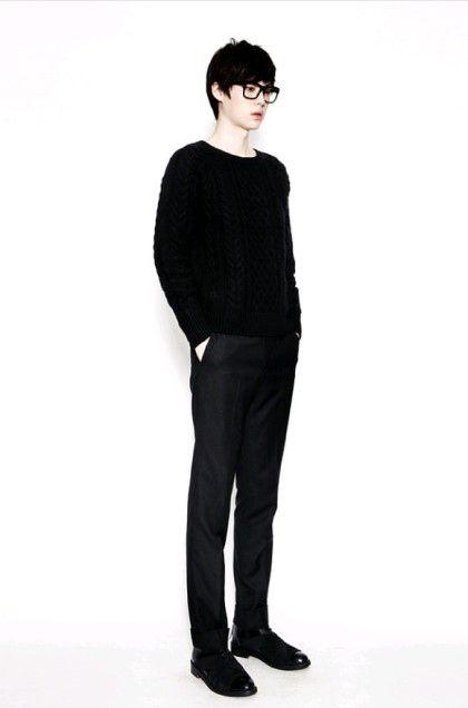 Men's black coordinate   안재현   Jae Hyun Ahn