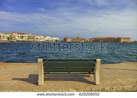 Single  Bench in Hermoupolis Greece