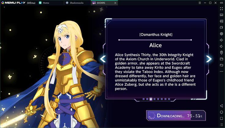 Download sword art online on pc memu android emulator