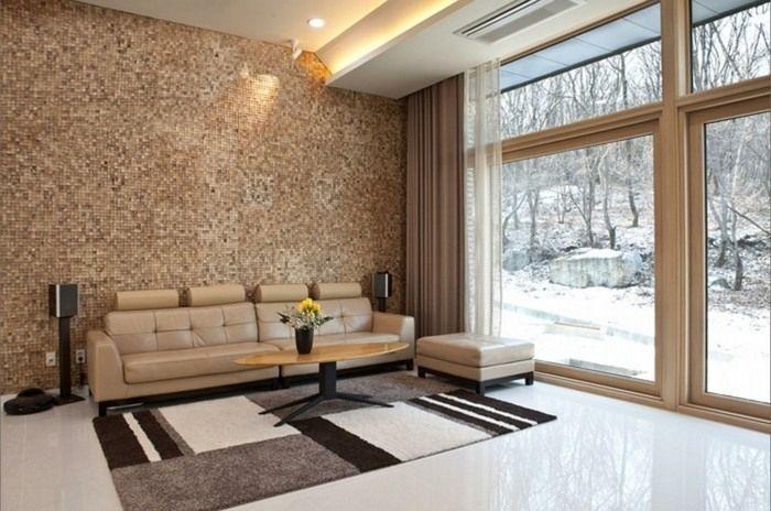 Wandgestaltung Wohnzimmer Beispiele farbliche wandgestaltung ...