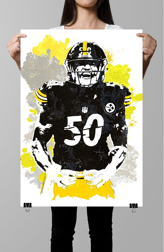new product 27e4e da1f8 Fan art poster, Ryan Shazier, Pittsburgh Steelers Poster ...