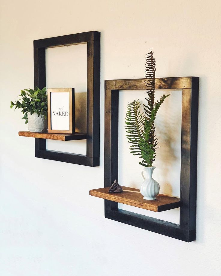 Modern floating shelf set