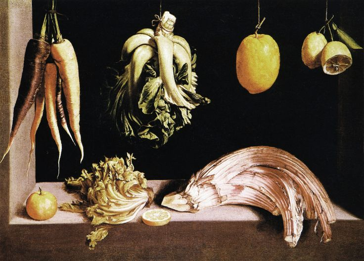 https://flic.kr/p/LuAPUK | Juan Sanchez Cotan - Still life with vegetables and fruits | Fra Juan Sanchez Cotan -  Nature-morte-aux-légumes-et-aux-fruits (69,5x96,5 cm)  Artichoke (Cynara cardunculus) Madrid Collection Fisa