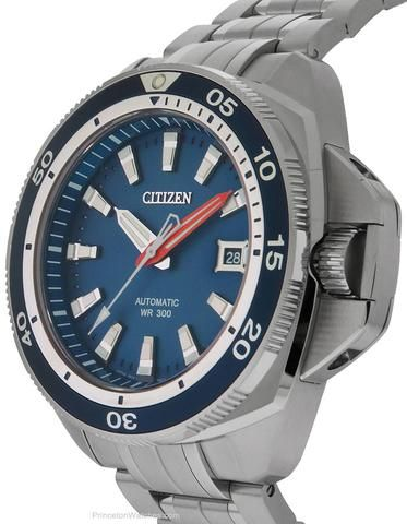 fa793d1bf Citizen Signature Grand Touring Mens Automatic -Stainless & Blue Dial &  Bezel