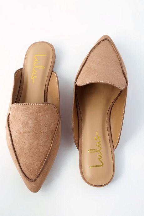 4594467b95 Lulus | Joelle Camel Suede Loafer Slides | Size 5.5 | Brown | Vegan ...