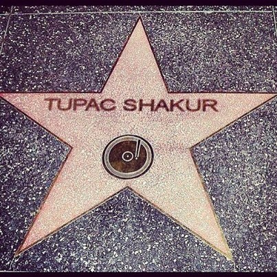Tupac Shakur, he was his own shining star. It's always great to see his work recognized, but his ardent fans knew his greatness all along.