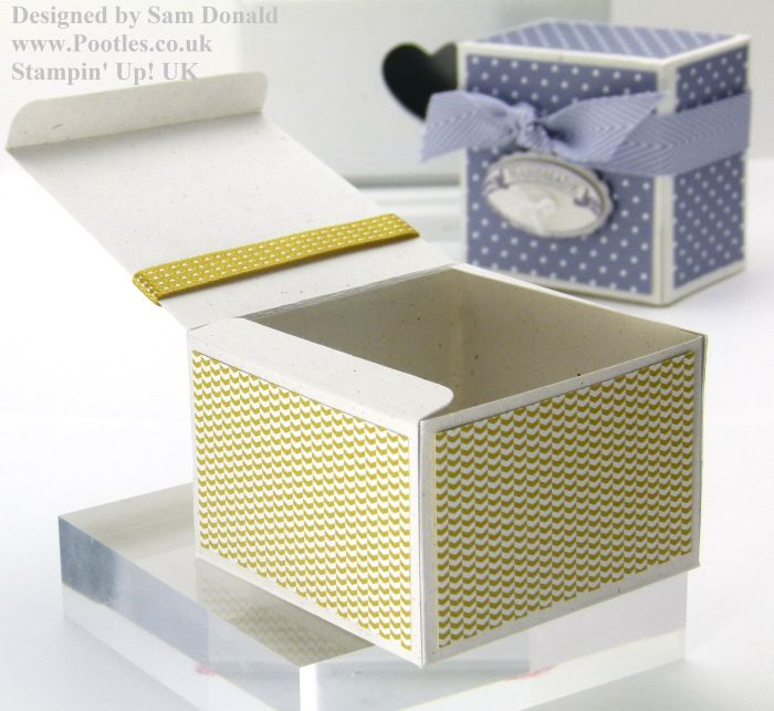 Pootles Stampin Up UK Short Fat Candle Gift Box