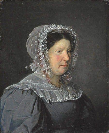 """""""Portrait of Cecilia Margaret Petersen Købke, the Artist's Mother"""" (1829) by Christen Købke (Danish 1810-1848)"""