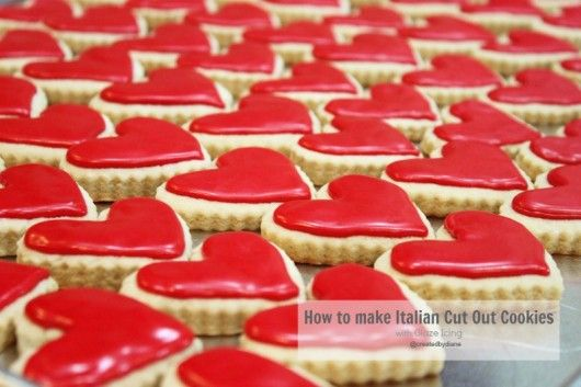 Italian Cookie Recipe with Glaze Icing (not royal icing, though it looks a lot like it - but tastes much better!): Holiday, Italian Cookie Recipes, Italian Cookies, Heart, Sweet, Valentines, Valentine S, Glaze Icing, Dessert