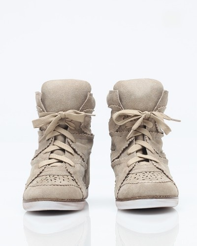 """Venice-Hi  Jeffrey Campbell    Suede high top wedge sneakers from Jeffrey Campbell. Features perforated vamp, tonal laces, cushioned insole and tongue, white soles and super high hidden wedge.    4"""" heel    Color  Size    $160.00: Color Size, Heels Color"""