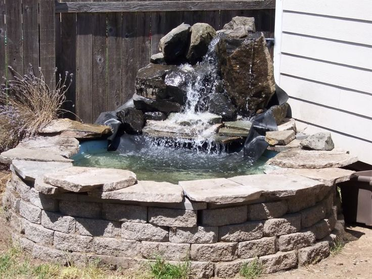 40 best images about retaining wall ideas on pinterest for Pond waterfall construction