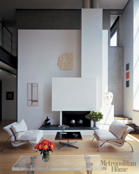 Living Rooms With White Fireplace