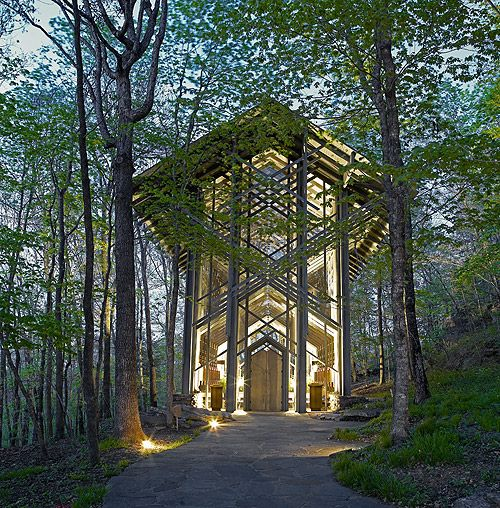 Wedding Chapels Near Eureka Springs: Thorncrown Chapel In Eureka Springs, Ark. Most Peaceful