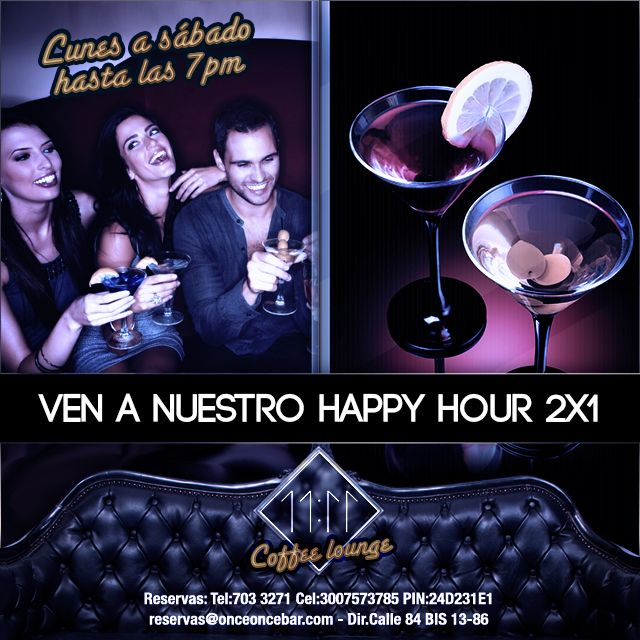 Ven a nuestro happy hour 2x1
