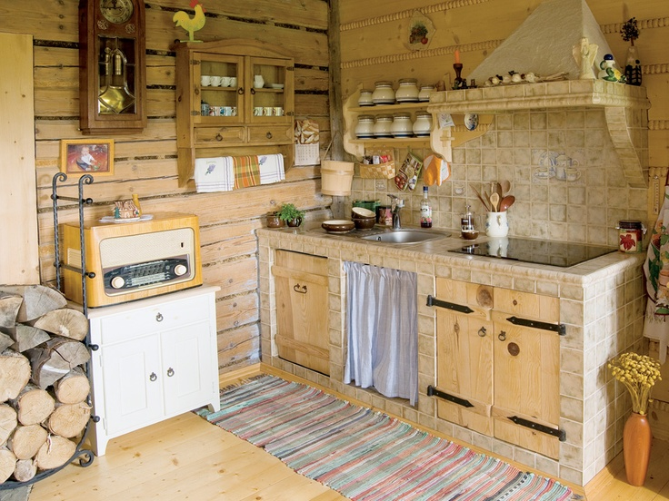 Country style kitchen - cozy in the kitchen - I love the countryside [Simple, rustic charm - luv it - but hope there's some work surface too!]