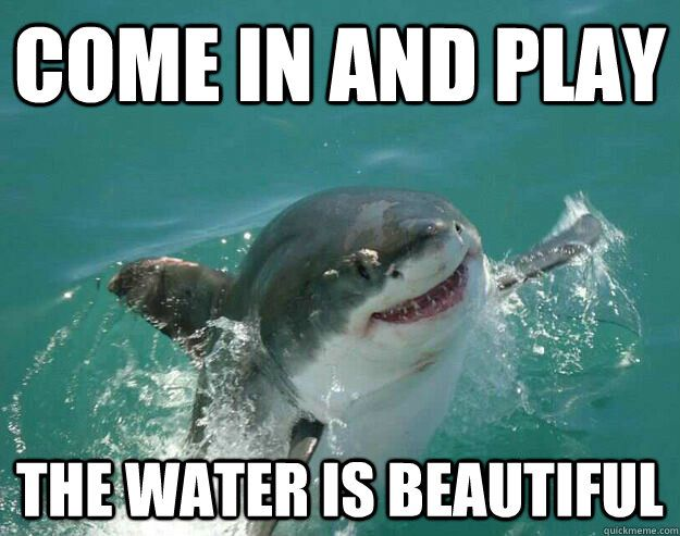 COME IN AND PLAY THE WATER IS BEAUTIFUL