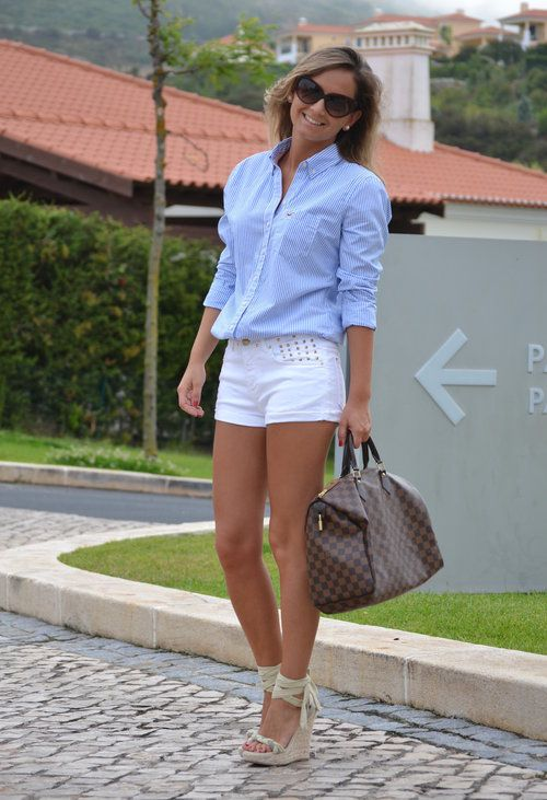 Hollister in Shirt / Blouses, Zara in Pants, Marypaz in Heels / Wedges, Louis Vuitton in Bags, Tom Ford in Glasses / Sunglasses