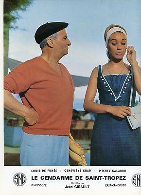 LOUIS DE FUNES GENEVIEVE GRAD LE GENDARME DE SAINT TROPEZ 1964