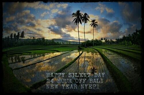 Happy nyepi day... silence for 24hours! Welcome the balinese New Year!