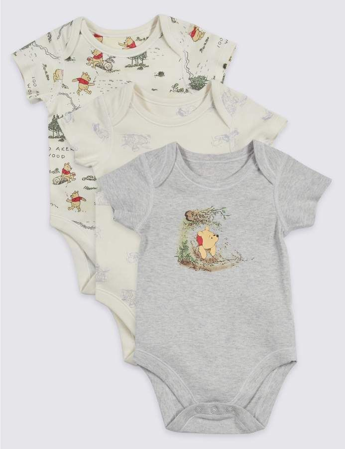 a7bcf7d77c7e How sweet is this 3 pack of Winnie the Pooh rompers. Would make a great new  baby boy or girl gift!  baby   toddler  affiliate