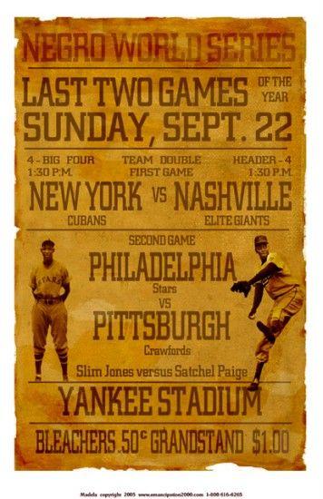 Negro League Baseball World Series.
