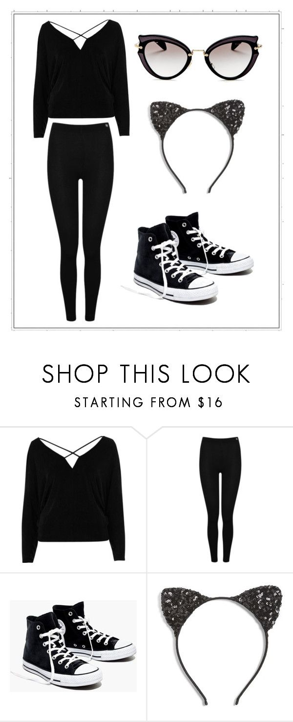 """Halloween Costume 2 (Black Cat)"" by elladrew24 on Polyvore featuring River Island, Heat Holders, Madewell, Cara and Miu Miu"