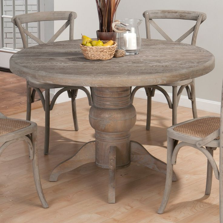 Have to have it jofran booth bay round pedestal dining table beeches - Pedestal kitchen table set ...
