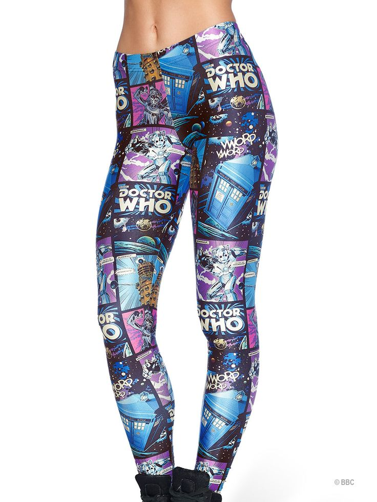 Dr Who Comic Strip Leggings - 48HR (WW ONLY $85AUD) by Black Milk Clothing
