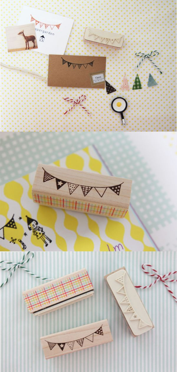 The Party Flag Stamp is a super cute stamp which brings a lively party vibe!