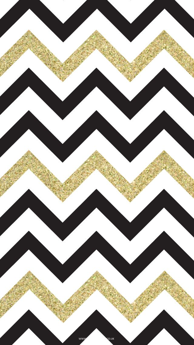 Free Black Gold Chevron iPhone Wallpaper