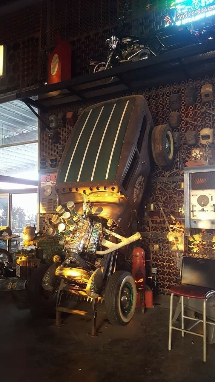 Pin By Christopher James Lowery On Cars Garage Style Man Garage Man Cave Home Bar