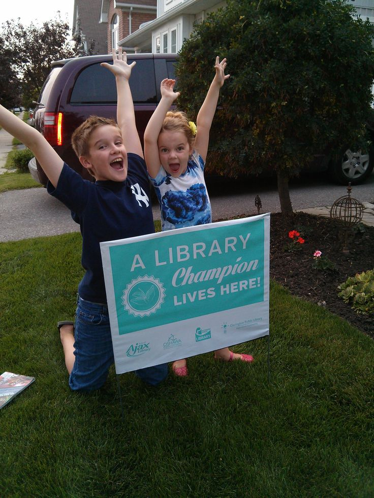 If anyone wants to know how much fun it is to be a Library Champion, just ask Cameron and Mya, from Oshawa. These two won't steer you wrong! Keep up the good work, and keep reading!  You've done an amazing job this summer!!!