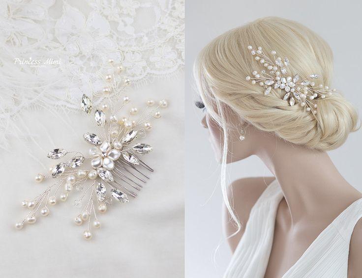 Braut haarschmuck strass  Die besten 25+ Hochzeit Haarkämme Ideen auf Pinterest | Haarkamm ...