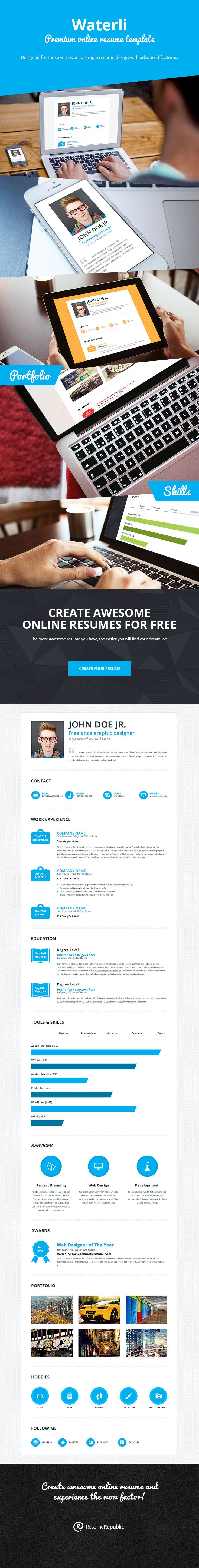 10 best resume template waterli images on pinterest