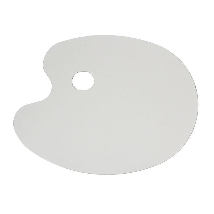 Paleta de formica blanca ovalada de 27 x 35 cm para for Paleta colores pintura
