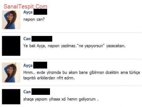 http://www.sanaltespit.com/Tespit/411/Turkcenin_Hormonlara_Yenilisi.html Türkçe sevdalısı ve düzgün konuşulmasına dikkat eden genç hormonlarına yeniliyor.