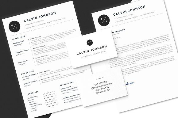 Resume Cv Template Word And Pages By Pixypixel On Creativemarket Stationery Template Employment Design Print Printables Id Presentation Folder Card