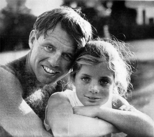 Bobby and his niece Caroline. Bobby was a surrogate father to her after Jack died, until his own death in 1968.