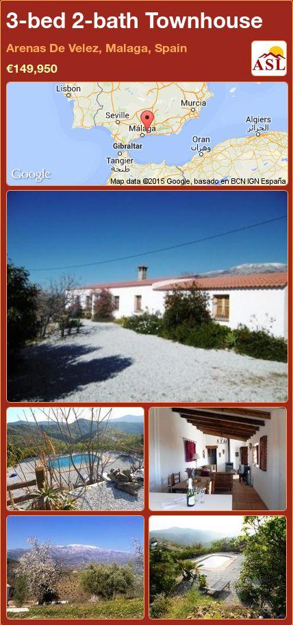 3-bed 2-bath Townhouse in Arenas De Velez, Malaga, Spain ►€149,950 #PropertyForSaleInSpain