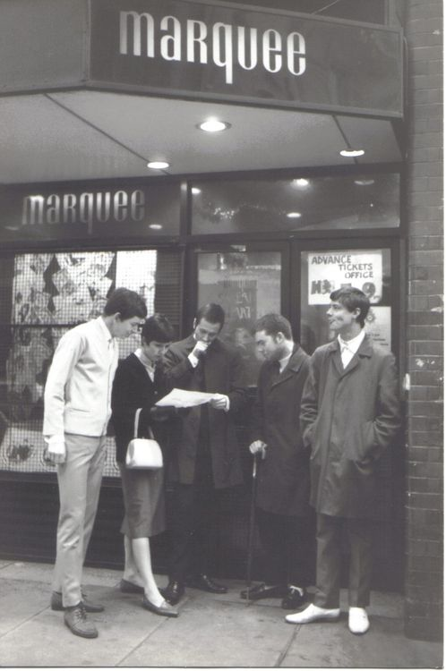Mods outside the Marquee by Paul Hallam, London early 1980s