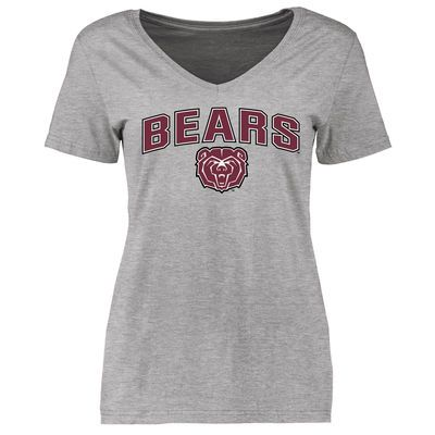 Missouri State University Bears Women's Proud Mascot Slim Fit T-Shirt - Ash
