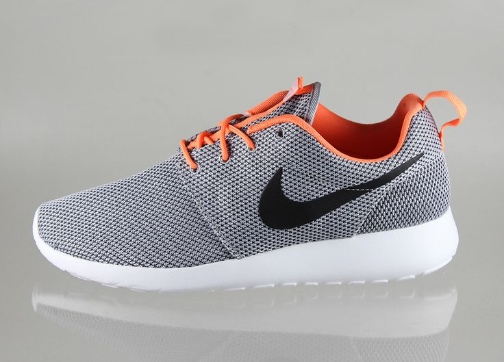official photos 291a6 0e834 ... best price nike roshe run wolf grey black atomic orange white c8778  10629