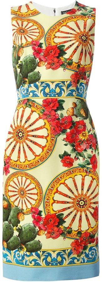 Dolce & Gabbana foulard print dress on shopstyle.com