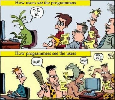Programmers vs. Users [Comic] More