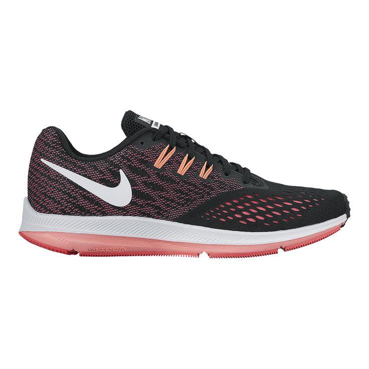 Nike Women's Zoom Winflo 4 Running Shoes - Black/Pink    119
